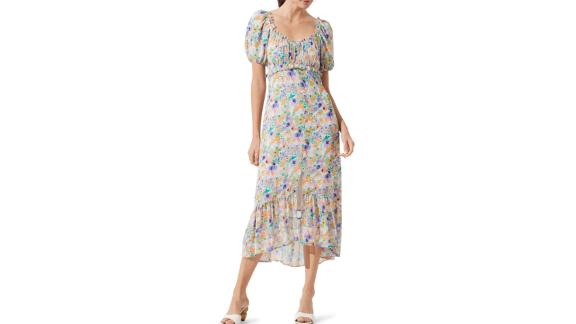 Astr The Label Balloon Sleeve Midi Dress