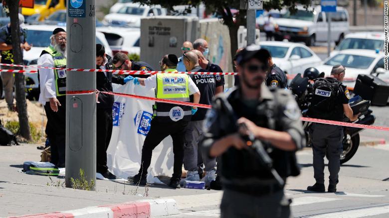 Two stabbed near Jerusalem's Sheikh Jarrah neighborhood, attacker shot and killed