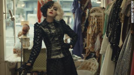 Emma Stone stars in 'Cruella,' premiering in theaters and on Disney+ (Courtesy of Disney).