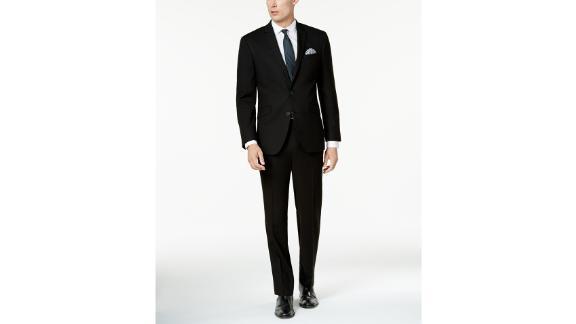 Kenneth Cole Reaction Costume Homme Ready Flex Solid Noir Slim Fit