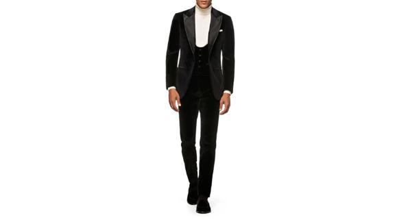Smoking 3 pièces Slim Fit en velours Suitsupply