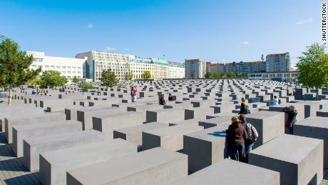 The Memorial to the Murdered Jews of Europe in Berlin, Germany.