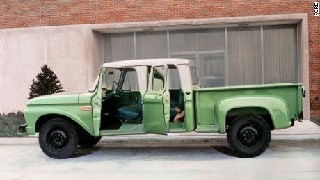 In the 1960s and 1970s, trucks continued to get roomier and more enjoyable, like this 1965 Crew Cab F-250.