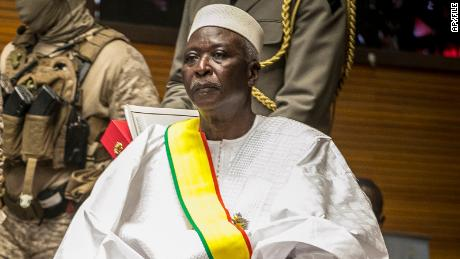 Former defense minister and retired Col. Maj. Bah N'Daw was sworn in as Mali's interim president last September.