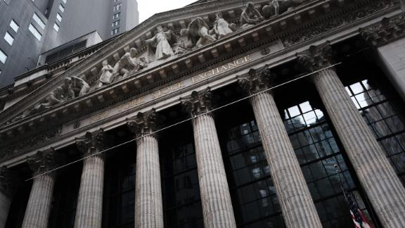 The New York Stock Exchange stands in lower Manhattan on May 11, 2021 in New York City.