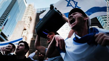 Supporters of Israel demonstrated in New York's Times Square earlier this month.