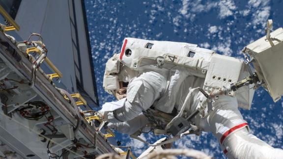 NASA Astronaut Danny Olivas on a spacewalk in 2010