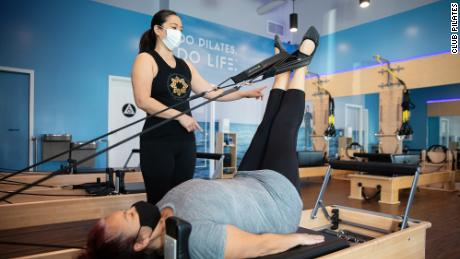 """Club Pilates offers on-demand streaming content for $19.99 a month. CEO Shaun Grove said the chain will """"always be first and foremost an in-studio fitness concept."""""""
