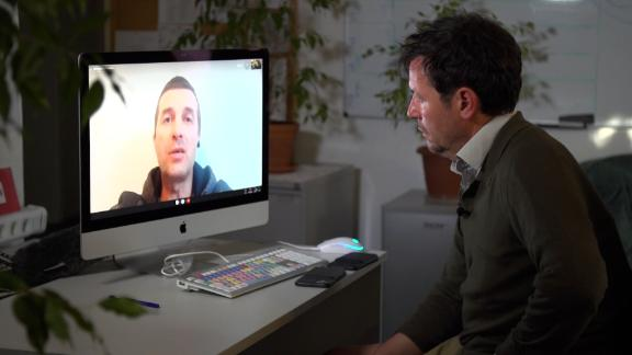 CNN's Matthew Chance speaks to Dmitry Protasevich on the same day his son Roman  appeared in a video from a Minsk detention center.