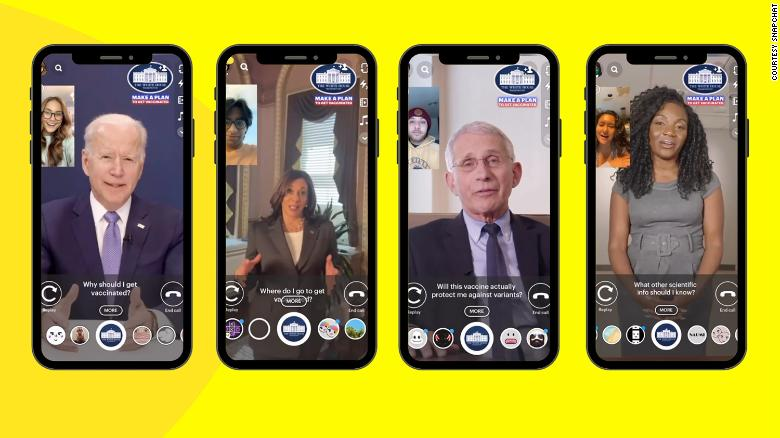 White House teams up with Snapchat to encourage Covid vaccinations for young Americans