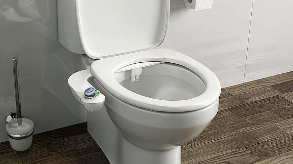 Bio Bidet SlimGlow Bidet Toilet Attachment and Seat Bumper Bundle