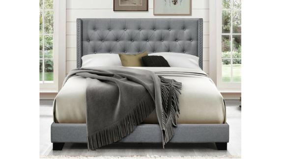 Greyleigh Aadvik Tufted Upholstered Low-Profile Standard Bed