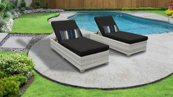 Sol 72 Outdoor Falmouth Long Reclining Chaise Lounge Set With Cushions