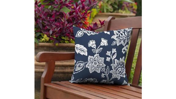 Arden Selections Floral Sapphire Ashland Jacobean Throw Pillow