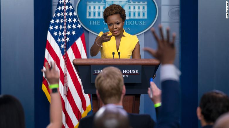 Karine Jean-Pierre becomes first Black woman in 30 years to host daily White House press briefing