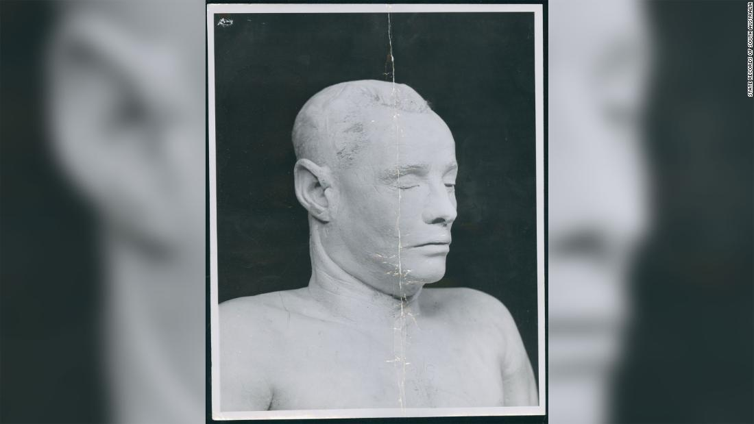 When police couldn't identify the man, a death mask was made of his face.