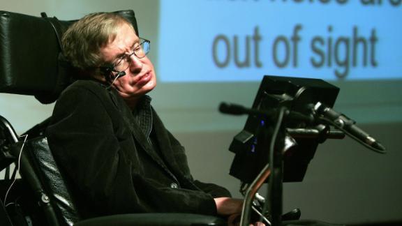 British scientist Stephen Hawking in Jerusalem on December 10, 2006.