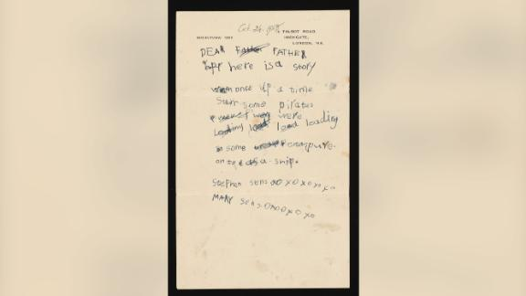 Among the gifted items is a letter from 1948, from a young Stephen to his father.