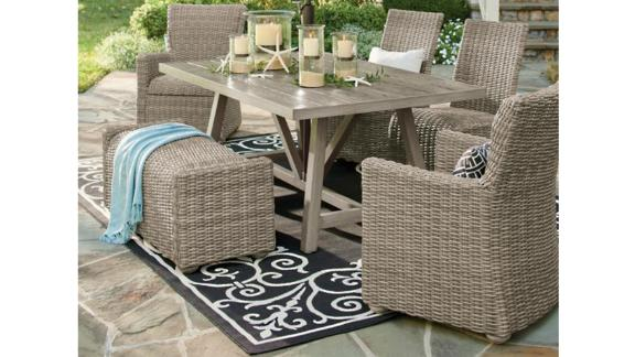 Simsbury Outdoor Wicker Dining Chairs, Set of 2