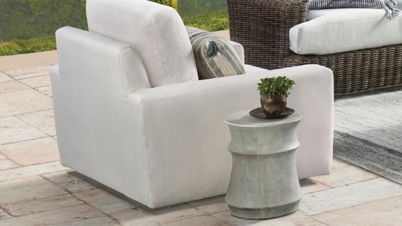 Concrete Outdoor Stool