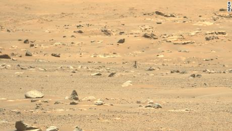 This image of Ingenuity was taken  the day after its sixth flight by the Perseverance rover.