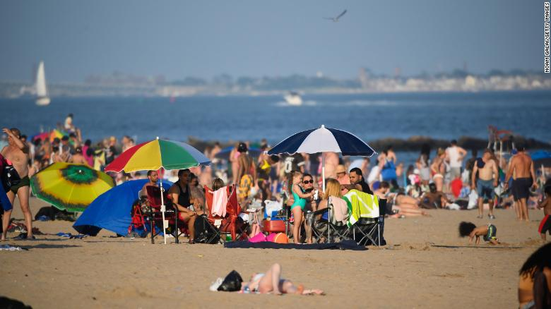 New York City is sending vaccination buses to beaches and parks this Memorial Day weekend