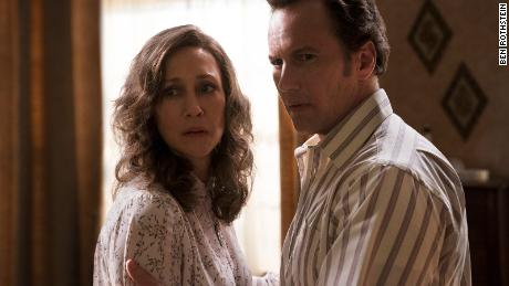 (From left) Vera Farmiga and Patrick Wilson star as husband-and-wife paranormal investigators in &quotThe Conjuring: The Devil Made Me Do It.&quot
