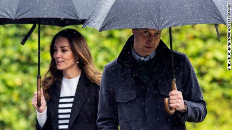 """William and Kate returned to the University of St. Andrews this week. William said Scotland brings him """"great joy"""" because it was where he met his wife 20 years ago."""