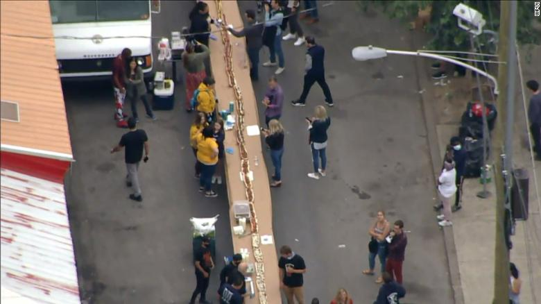 Restaurant owner celebrates birthday with 510-foot-long cheesesteak