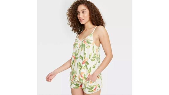 Women's Floral Print Beautifully Soft Cami and Shorts Pajama Set