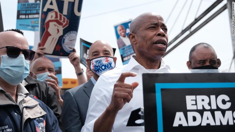Rising crime in New York has gripped the mayoral race. Eric Adams says he alone can fix it.