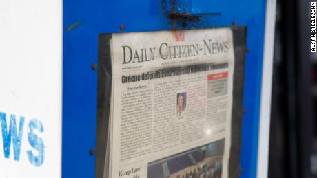 The Daily Citizen-News homepage is seen in Dalton on Thursday.