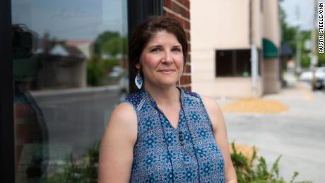 Josalyn Shults, 41, a nurse from Dalton, stood in town on Thursday.