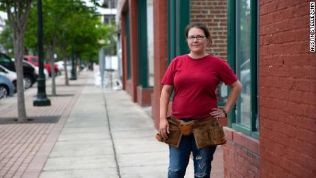 Brandyn Parker, 37, stands in downtown Dalton on Thursday.