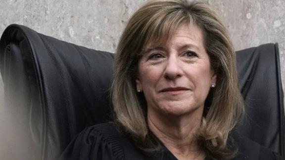 Judge Amy Berman Jackson listens during the investiture ceremony for U.S. District Judge Trevor N. McFadden April 13, 2018 at the U.S. District Court in Washington, DC.