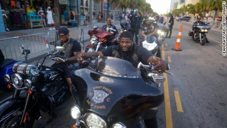 Motorcyclists wait in traffic on North Ocean Blvd. on May 29, 2021 in Myrtle Beach.  South Carolina