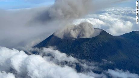 CNN's Fabien Muhire captured these images of Mt. Nyiragongo on a flight with a team of experts surveying the volcano.