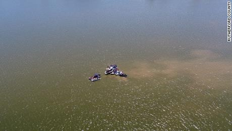 Dive teams from Rutherford County Fire Rescue, Metro Nashville Office of Emergency Management, Metro Nashville Police Department and Wilson County Emergency Management have recovered several components of the aircraft as well as human remains from Percy Priest Lake.