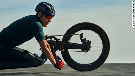 Paralympic hand cyclist Oz Sanchez
