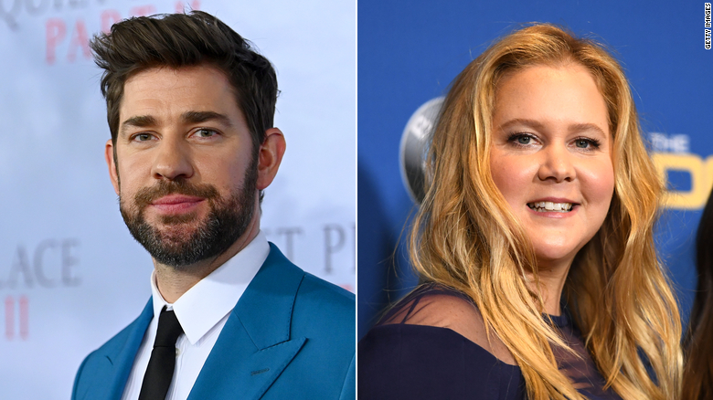 John Krasinski responds to Amy Schumer's joke that his marriage to Emily Blunt is for publicity