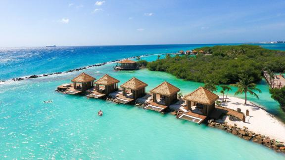 Guests at the Marriott Renaissance Aruba have exclusive access to their own private island.