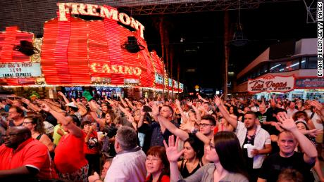Crowds enjoyed the first live music in Las Vegas in more than a year.