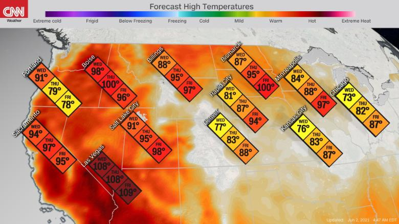Heat wave pushes east, raising temperatures in major cities this weekend