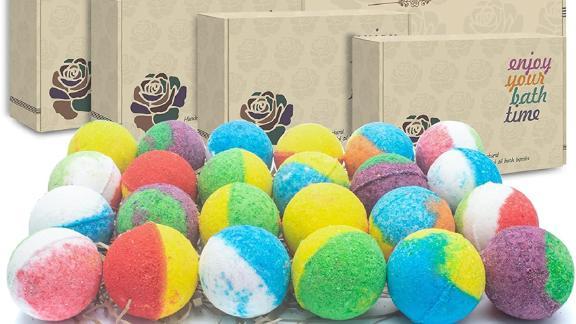 Inteye Organic Bath Bombs, 24-Pack