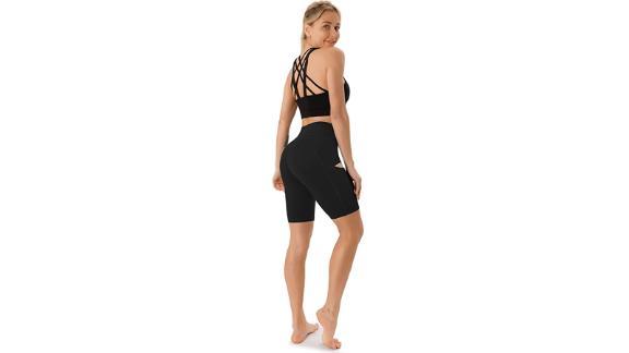 JOYSPELS Biker Shorts for Women With Pockets