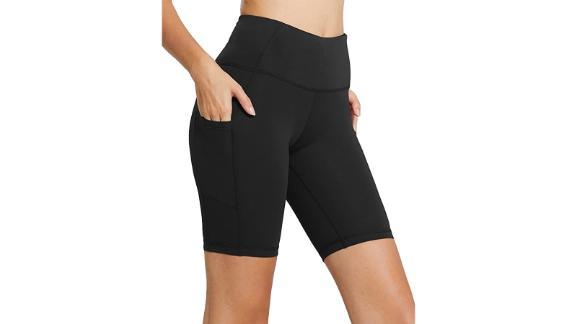 Baleaf Women's 8-Inch/5-Inch High-Waist Biker Shorts