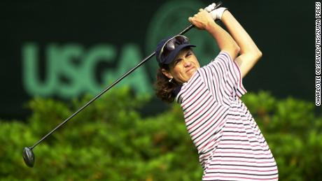 Corrie-Kuehn starts off in the first round of the 56th US Women's Open Championship at the Pine Needles Lodge and Golf Club in Southern Pines, North Carolina on Thursday, May 31, 2001.