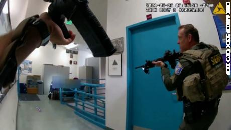 San Jose shooting: Body-camera footage shows tense moments as officers approach gunman