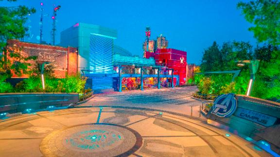 Avengers Campus at Disney California Adventure Park in Anaheim, California, invites guests of all ages into a new land where they can sling webs on the first Disney ride-through attraction to feature Spider-Man. The immersive land also presents multiple heroic encounters with Avengers and their allies, like Iron Man, Black Panther, Black Widow and more. At Pym Test Kitchen, food scientists will utilize Ant-Man and The WaspÕs shrinking and growing technology to serve up perfectly sized snacks. (Christian Thompson/Disneyland Resort)