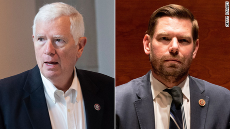 Rep. Mo Brooks is avoiding an insurrection lawsuit. Rep. Eric Swalwell hired a private investigator to find him.